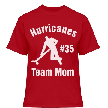 Hurricanes Team Mom Misses Relaxed Fit Gildan Heavy Cotton Tee