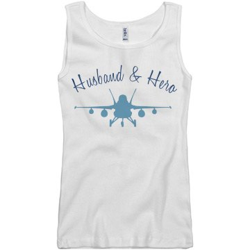 Husband & Hero Junior Fit Basic Bella 2x1 Rib Tank Top