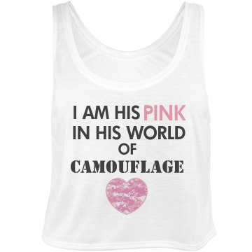 I Am His Pink Bella Flowy Boxy Lightweight Crop Top Tank Top