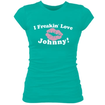 I Freakin' Love Johnny Junior Fit Bella Sheer Longer Length Rib Tee