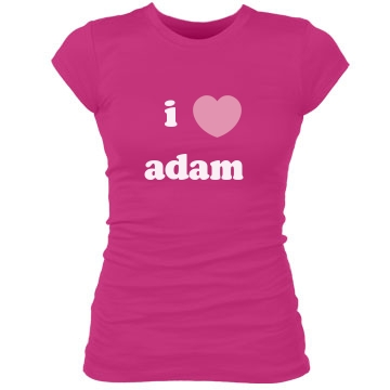 I Heart Adam Junior Fit Bella Sheer Longer Length Rib Tee