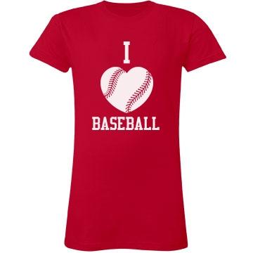 I Heart Baseball Tee