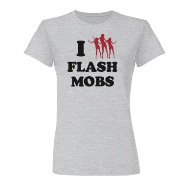 I Heart Dance Flash Mobs Junior Fit Basic Bella Favorite Tee