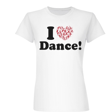 I Heart Dance Junior Fit Basic Bella Favorite Tee