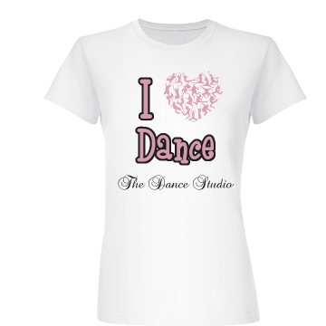 I Heart Dance Tee Junior Fit Basic Bella Favorite Tee