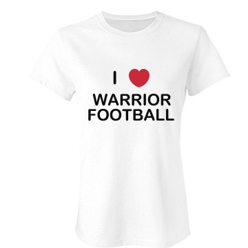 I Heart Football Tee Junior Fit Bella Favorite Tee