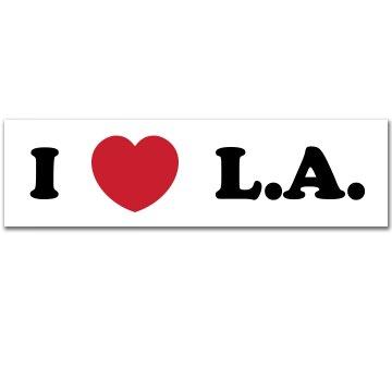 I Heart LA Bumper