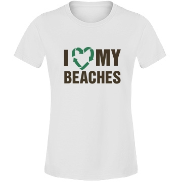 I Heart My Beaches Misses Relaxed Fit Anvil Lightweight Fashion Tee