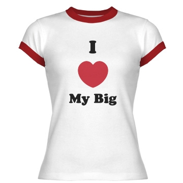 I Heart My Gig  Junior Fit Bella 1x1 Rib Ringer Tee