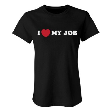 I Heart My Job Junior Fit Bella Favorite Tee