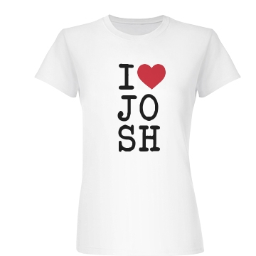 I Heart Name (NY) Junior Fit Basic Bella Favorite Tee