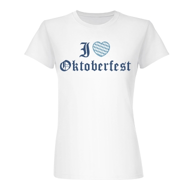 I Heart Oktoberfest Junior Fit Basic Bella Favorite Tee