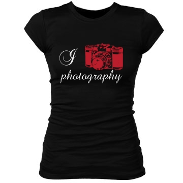 I Heart Photography Junior Fit Bella Sheer Longer Length Rib Tee