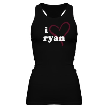 I Heart Ryan Junior Fit Bella Sheer Longer Length Rib Racerback Tank Top