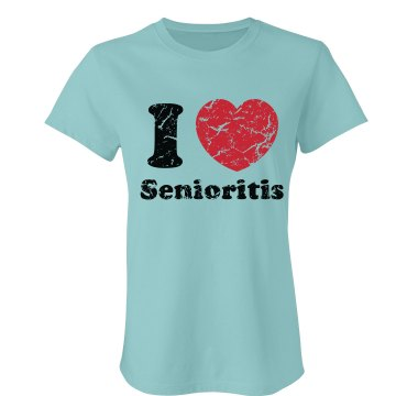 I Heart Senioritis T Junior Fit Bella Favorite Tee