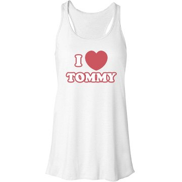I Heart Tommy Bella Flowy Lightweight Racerback Tank Top