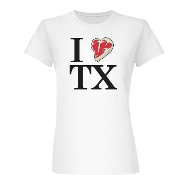 I Heart TX Junior Fit Basic Bella Favorite Tee