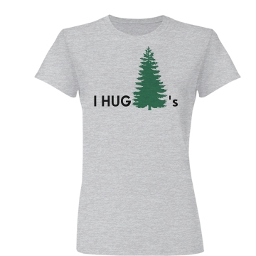 I Hug Trees Junior Fit Basic Bella Favorite Tee