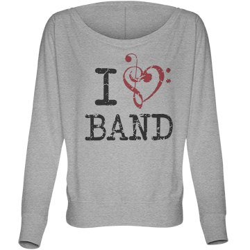 I Love Band Music Note