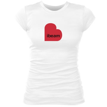 i love beam Junior Fit Bella Sheer Longer Length Rib Tee