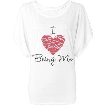I Love Being Me Bella Flowy Lightweight Draped Sle