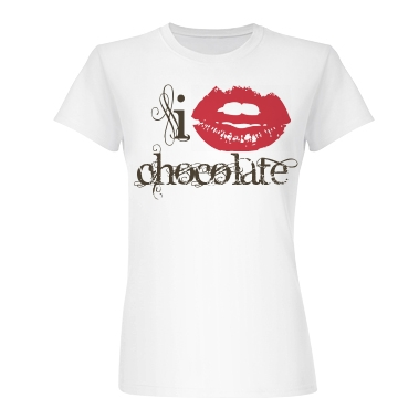 I Love Chocolate Junior Fit Basic Bella Favorite Tee