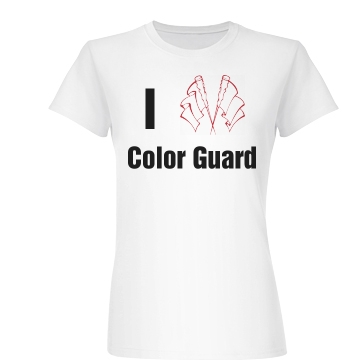 I Love Color Guard Junior Fit Basic Bella Favorite Tee