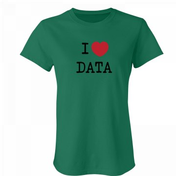 I Love Data Junior Fit Bella Favorite Tee
