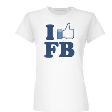 I Love Facebook Junior Fit Basic Bella Favorite Tee