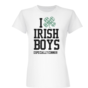 I Love Irish Boys Junior Fit Basic Bella Favorite Tee