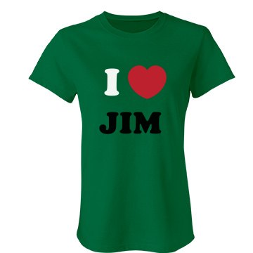I Love Jim Junior Fit Bella Favorite Tee