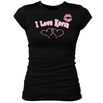 I Love Kevin Junior Fit Bella Sheer Longer Length Rib Tee