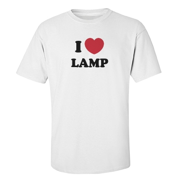 I Love Lamp Unisex Basic Gildan Heavy Cotton Cre