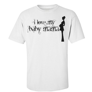 I Love My Baby Moma Unisex Basic Port & Company Essential Tee