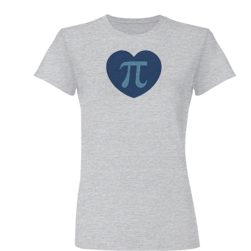 I Love Pi 3.14 Blue Theme Junior Fit Basic Bella Favorite Tee