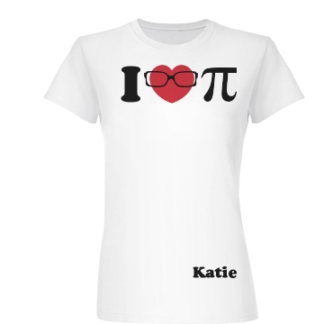 I Love Pi Junior Fit Basic Bella Favorite Tee