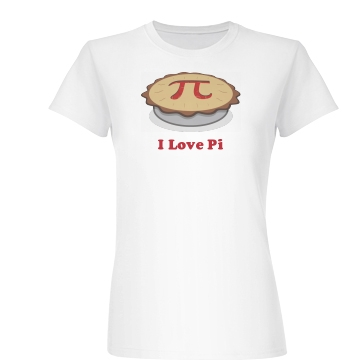 I Love Pi Pie Junior Fit Basic Bella Favorite Tee