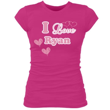 I Love Ryan Junior Fit Bella Sheer Longer Length Rib Tee
