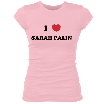 I Love Sarah Palin Junior Fit Bella Sheer Longer Length Rib Tee