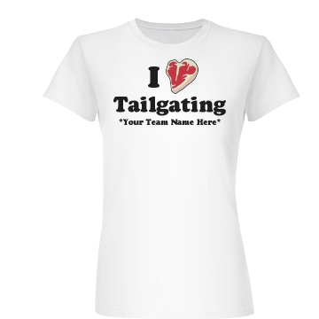 I Love Tailgating Junior Fit Basic Bella Favorite Tee