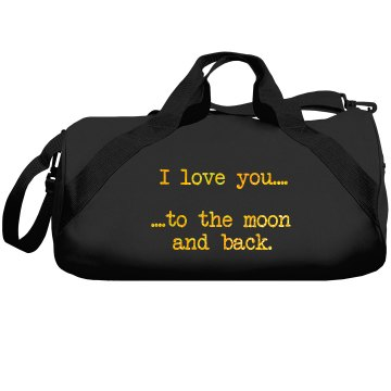 I Love You And Carry You Liberty Bags Barrel Duffel Bag