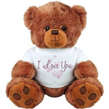 I Love You Bear Hearts