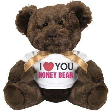 I love you Honey Bear!: glitzy and glam