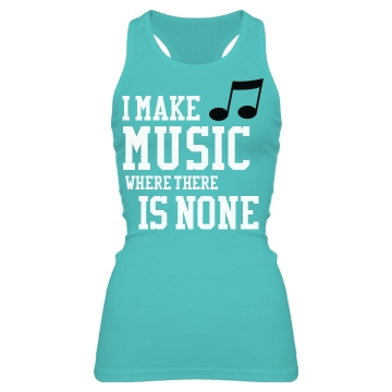 I Make Music Junior Fit Bella Sheer Longer Length Rib Racerback Tank Top