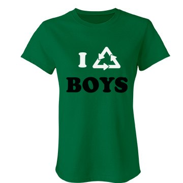 I Recycle Boys Junior Fit Bella Favorite Tee