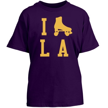I Skate L.A. Youth Gildan Heavy Cotton Crew Neck Tee