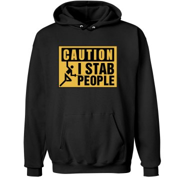 I Stab People Unisex Hanes Ultimate Cotton Heavyweight Hoodie