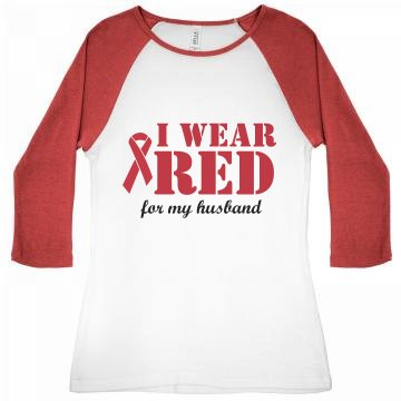 I Wear Red For My Husband