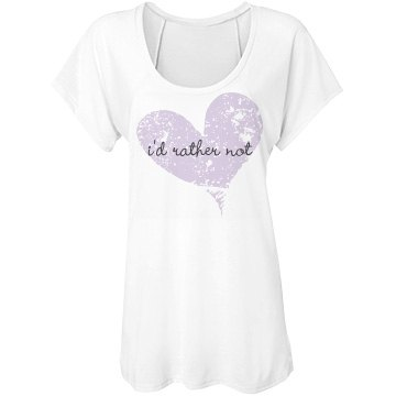 I'd Rather Not Bella Flowy Lightweight Raglan T