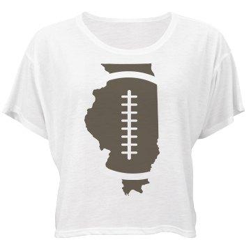 Illinois Football Bella Flowy Boxy Lightweight Crop Top Tee